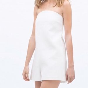 Zara Trafuluc White Strapless Romper, S (NWOT)